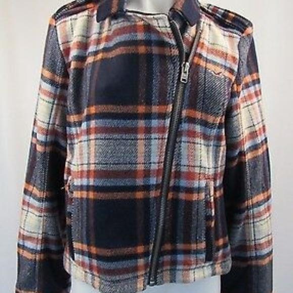 Hollister Jackets & Blazers - Hollister Plaid Womens Jacket Coat